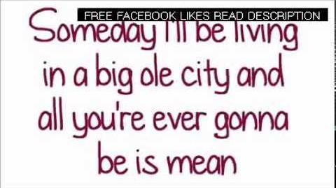 Glee - Mean (Lyrics) HD