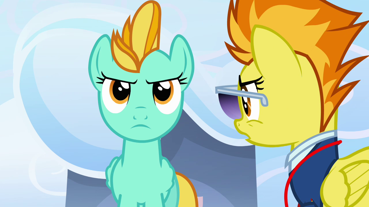 My Little Pony Lightning Dust Coloring Pages : Image spitfire talking to lightning dust s e my