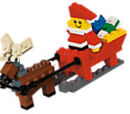 40010 Santa with Sleigh Building Set