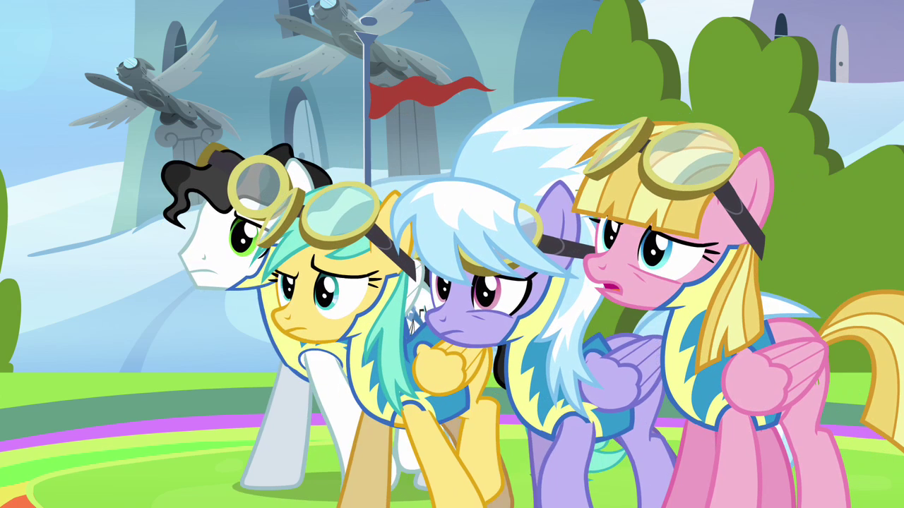 Image  The other pegasi hearing Spitfire S3E07png  My Little Pony Friendsh # Sunshower Mlp_175524