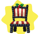 Dark Christmas Chair