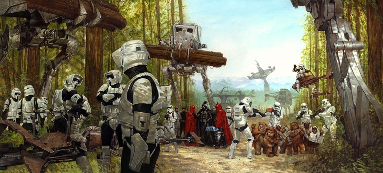 Star Wars Stormtroopers Fantasy Art Artwork Bwing Down: Endor Shield Generator Bunker