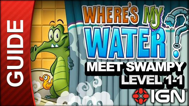 Where's My Water (iPad) - Meet Swampy - Level 1-1 First Dig - Walkthrough