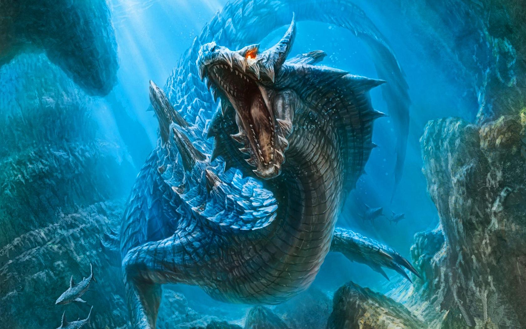 Water-dragon-wallpaper