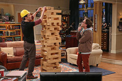 big bang theory jenga