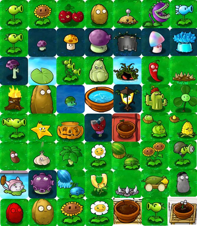 Plants vs.Zombies Personajes