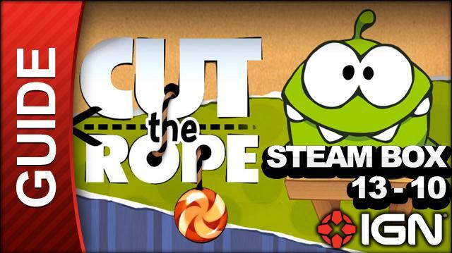 Cut the Rope - Steam Box 3-Star Walkthrough - Level 13-10
