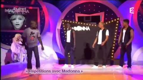 Répétitions avec Madonna