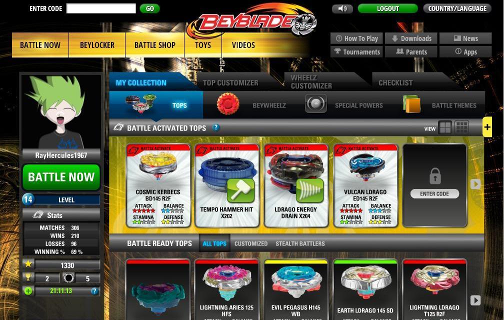 beyblade battles online login