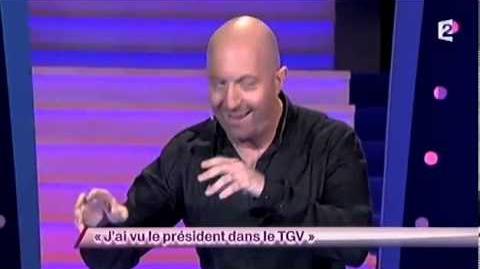 J'ai vu le président dans le TGV