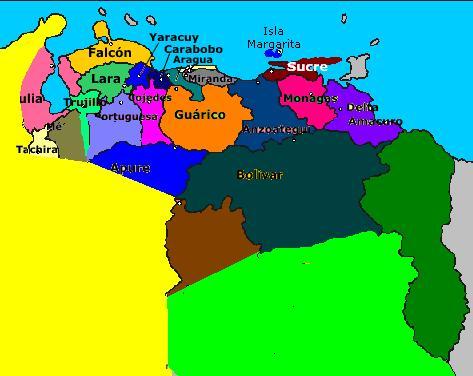 Imagen - Nuevo mapa de venezuela.jpg - Historia Alternativa - Wikia