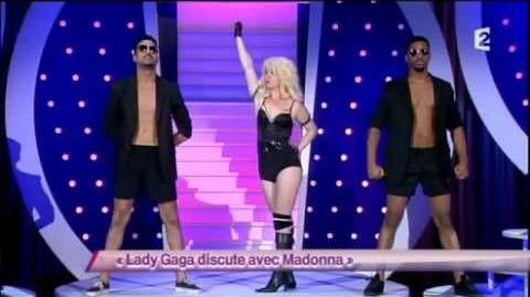 Lady Gaga discute avec Madonna
