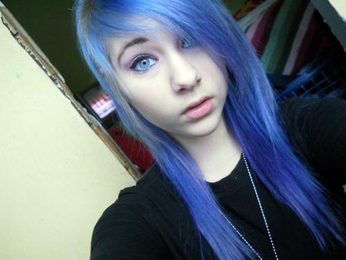 Image Blue Hair Girl Purple Hair Favim Com 429301 Jpg