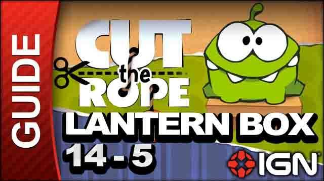 Cut the Rope - Lantern Box 3-Star Walkthrough - Level 14-5
