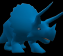 Cyan Triceratops