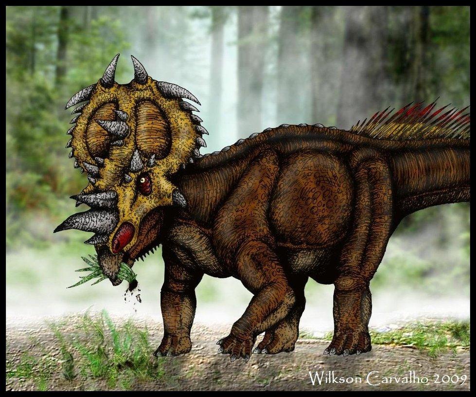 Pachyrhinosaurus canadensis by  Pachyrhinosaurus Vs Albertosaurus
