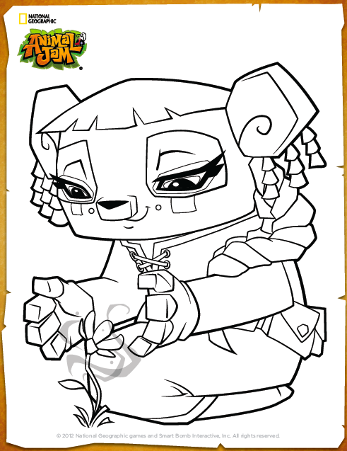 Animal Jam Coloring Pages Bunny Coloring Coloring Pages