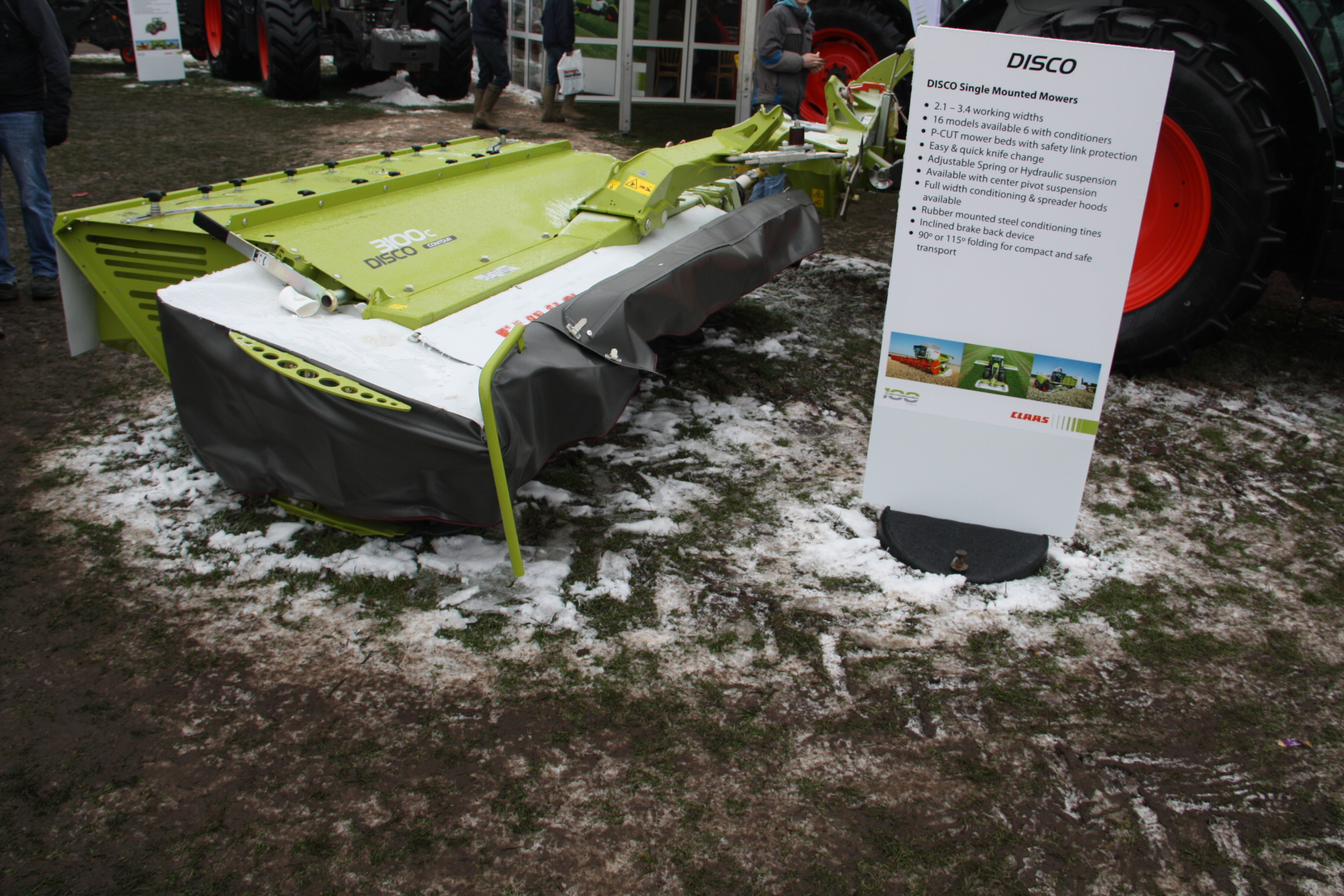 Claas mower rangeFan Feed