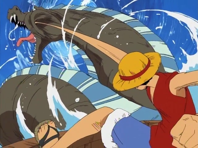 Nothing like introducing god-like characters just so Luffy can punch them in the face. (photo: onepiece.wikia.com)