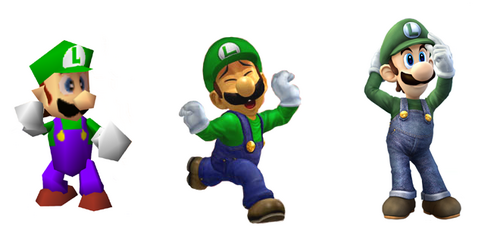 Evolution of Luigi Image Luigi Evolution Png