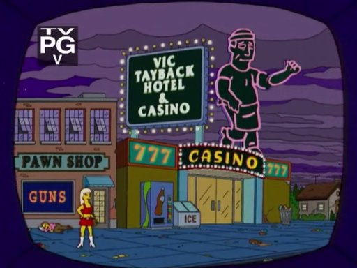 simpsons casino episode