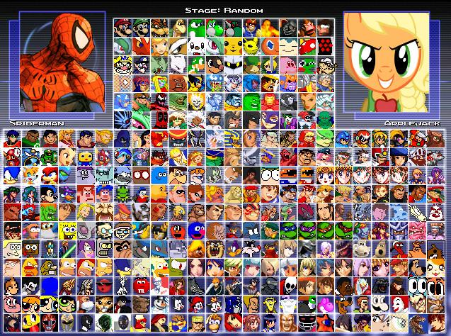 100 character slots mugen