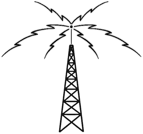 File Radio tower active on telephone radio waves