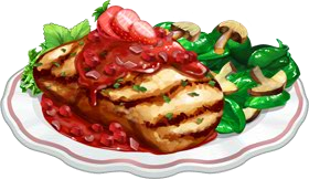 Recipe-Grilled Chicken with Strawberry Sauce