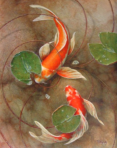 Image koi paintings by terry galapygos for Runescape koi pool