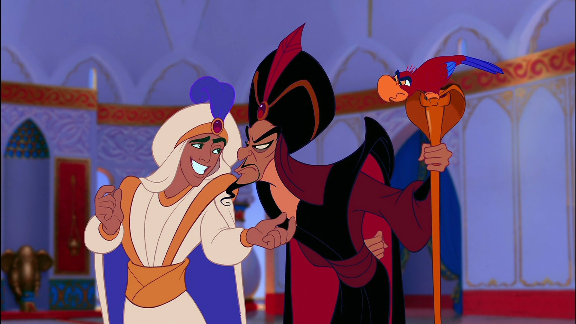 Jafar Wallpaper Jafar And Iago Meeting Prince