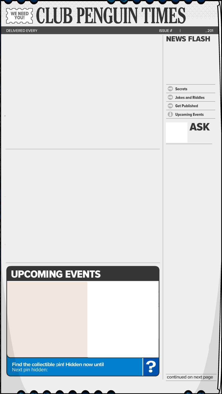 Blank Newspaper Template Printable Blank newspaper template