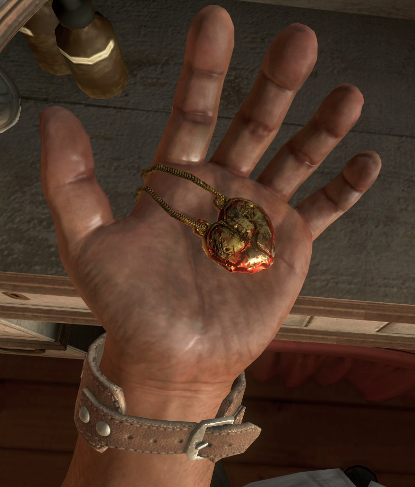 Golden heart locket png