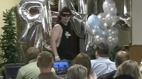 Travis Alexander acting as Eddie Snell from Alabama. Summer 2006 Daniel's Summit, UT.