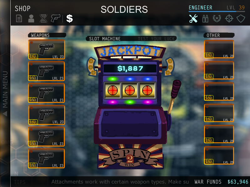 Shop and Slot Machine - Strike Force Heroes 2 Wiki