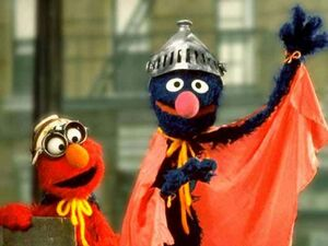 Elmo and Super Grover