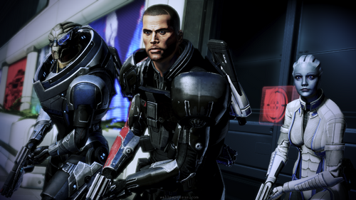 games-mass-effect-3-garrus-vakarian-liara-tsoni-commander-shepard pngMass Effect 3 Liara And Shepard