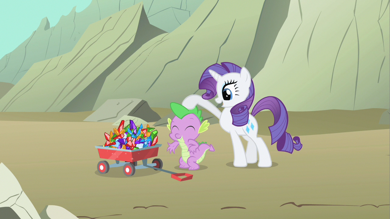 Image - Rarity patting Spike S1E19.png - My Little Pony ...