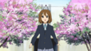 Yui under cherry trees.png