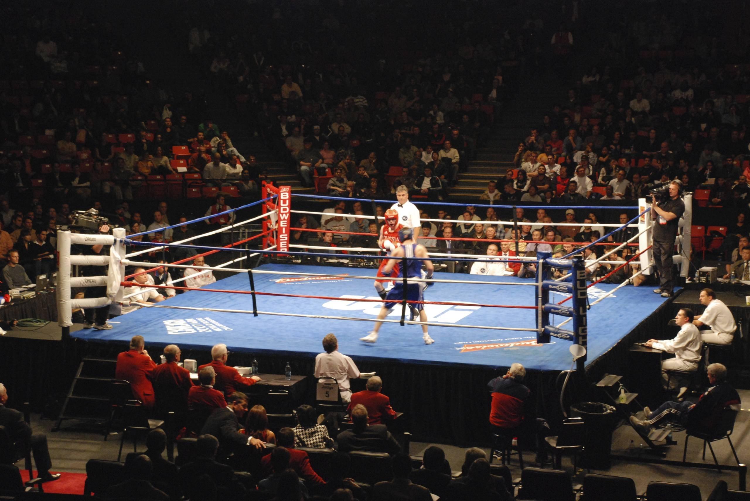 Empty Boxing Ring Wallpaper