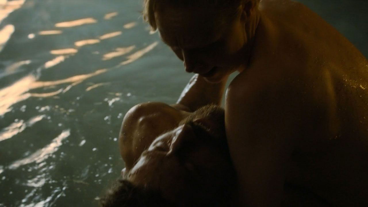 Brienne and Jaime Kissed by Fire