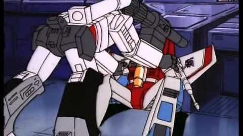 G1 Megatron Beats Up Starscream
