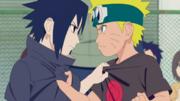 A rivalidade de Naruto e Sasuke