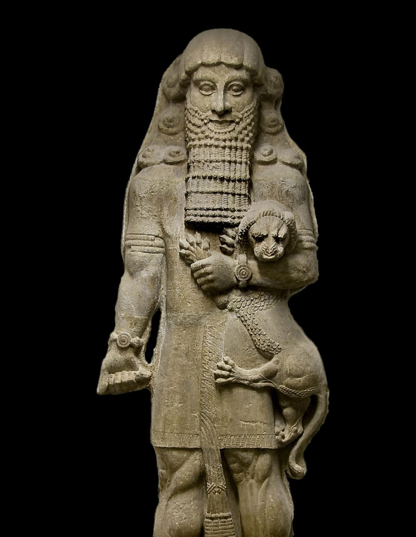 How does the Epic of Gilgamesh present the idea of good vs evil?