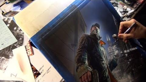 Watch Dogs Alex Ross Poster - GameStop Pre-Order Exclusive North America