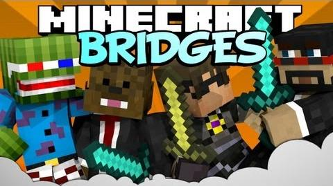 MINECRAFT Mini-game BRIDGES w CaptainSparklez, SkyDoesMinecraft, and JeromeASF