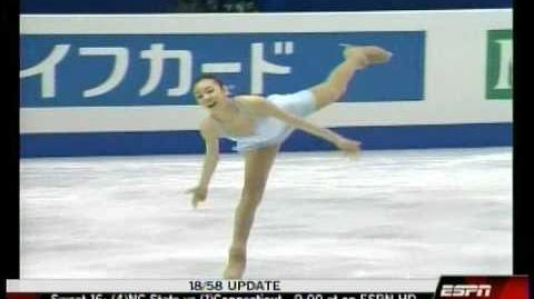 2007World KIM Yu-na FS-The Lark Ascending (미국 ESPN)