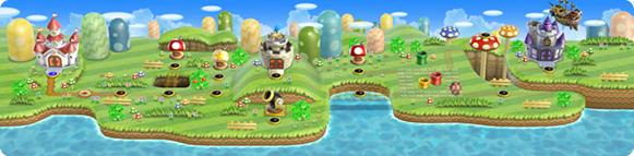 Super Mario Bros World Mapa World 1 New Super Mario Bros