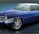 Cadillac with Spinners