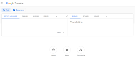 Google translate english to italian - a