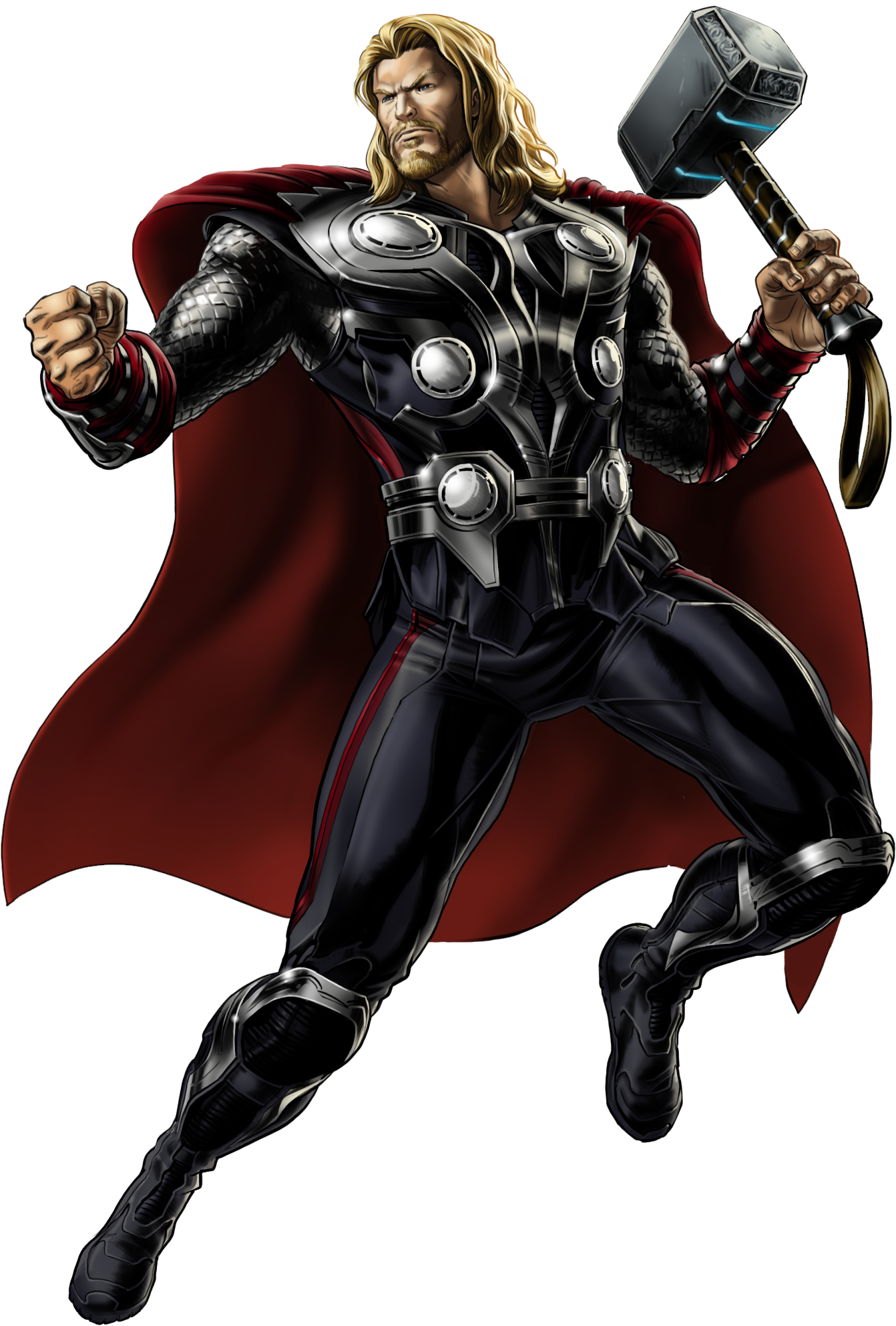 Image Avengers Thor Right Portrait Art Png Marvel